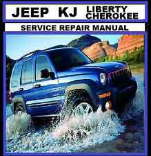 JEEP CHEROKEE LIBERTY KJ series 2002-2007 2.4L 2.5L 2.8L 3.7L Workshop Repair CD