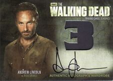Walking dead saison 3 partie 2 andrew lincoln comme rick grimes AM9 auto costume carte
