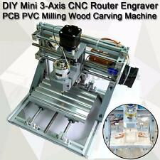 Mini 3-Axis CNC Router Engraver PCB PVC Desktop DIY Milling Wood Carving Machine