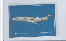 Tyrolean Airways issued Canadair Jet cont/l postcard