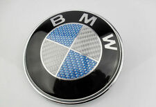 45mm Fits BMW BLUE Carbon Fibre Steering Wheel Sticker Badge Emblem 1 2 3 4 5 6