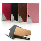 Fashion PU Stainless Purse Business Name ID Credit Card Holder Case Box