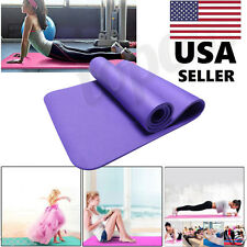 10MM Thick Durable Yoga Mat Non-slip Exercise Fitness Pad Mat Lose Weight Purple