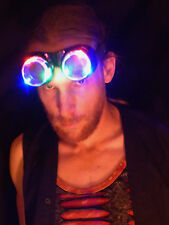LED Goggles - Steampunk - Cosplay - Paintable - EDM Dance Flashing Light up