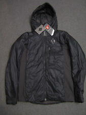Black Diamond Access Hybrid Hoody Mens M Primaloft Insulated Jacket Hooded black