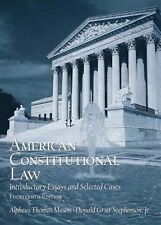 American Constitutional Law: Introductory Essays and Selected Cases (14th Editio