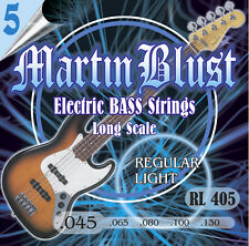 Martin Blust E-Bass Saiten RL405-5 Regular Light - 5-Saiter - (.045 - .130)