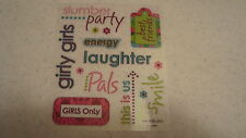 ASSORTED SLUMBER PARTY stickers/Great for Borders! CLEARANCE