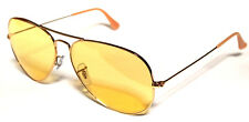 RAY BAN 3025 58 AVIATOR GOLD ORO YELLOW GIALLO AMBERMATIC PERSONALIZZATO REMIX