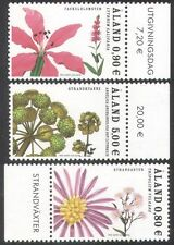 Aland 2007 Waterside Plants/Nature/Flowers/Aster/Angelica 3v set (n39649)