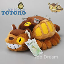 "Studio Ghibli My Neighbor Totoro Cat Bus Plush Doll Soft Stuffed Toy 12"" NEW"