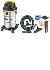 Stanley 5 Gallon Portable Stainless Steel Wet Dry Vac Vacuum Cleaner Shop, NEW
