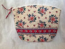 Vera Bradley TEA GARDEN Large Medium Cosmetic Purse Bag HTF