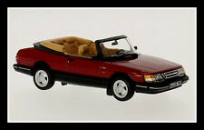 wonderful modelcar SAAB 900 TURBO 16 CONVERTIBLE 1992  - red  - scale 1/43