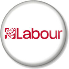 "Labour 25mm 1"" Pin Button Badge General Election Political Party Support Rose"