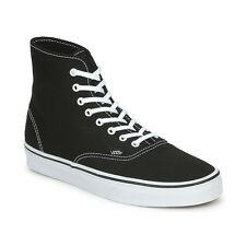 MENS VANS AUTHENTIC HI TOP CANVAS SKATER TRAINERS - UK SIZE 8.5 - BLACK.