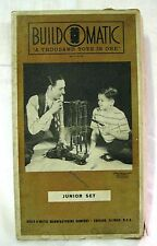 estate find Vintage 1946 BUILD O MATIC Junior Set A THOUSAND TOYS IN ONE
