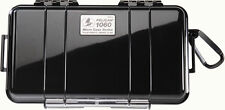 Pelican 1060 Solid Black Micro Case with Free engraved nameplate