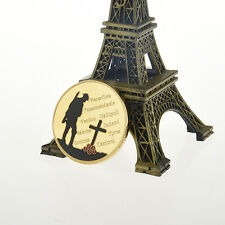 Golden The Great War Commemorative Iron Coin Collection Colored Collectible Gift