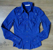 Karen Millen Womens Size UK8/10 Blue Stretch Fit  Shirt /Blouse , Good cond.