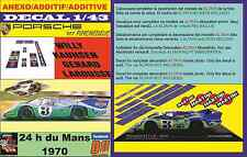 ANEXO DECAL 1/43 PORSCHE 917 PSYCHEDELIC MARTINI WILLY KAUHSEN LEMANS 1970 (01)