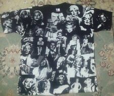 Vintage 80's MOSQUITOHEAD shirt XL MARILYN MONROE rare punk ALL OVER PRINT htf
