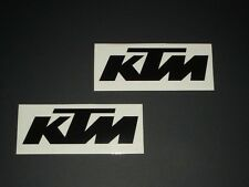 KTM Aufkleber Sticker 2 StkRacing Exc Cross Decal Bapperl Kleber Logo s 20