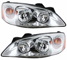 05-10 Pontiac G6 Headlights Headlamps Pair Set Left & Right New Lens & Housing