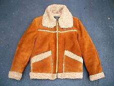 Vtg Campus Suede Leather Rockabilly Motorcycle Biker Riding Men's Jacket Coat 40