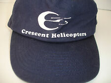 Crescent Helicopters SnapBack Closure Hat Blue Baseball Cap New Old Stock NWOT