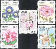 Cambodia 1993 Wild Flowers/Plants/Nature/Camellia/Lily 5v set (b8157)