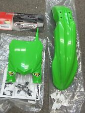 CYCRA GREEN 2015 STYLE FRONT FENDER + STADIUM NUMBER PLATE KAWASAKI KX 250F 450F