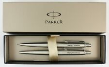 Parker Jotter Ballpoint Pen & Pencil SET Personalised Gift ENGRAVED