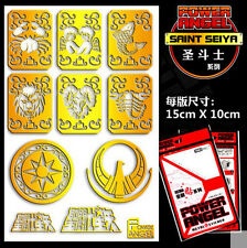 Anime Gold Saint Saint Seiya Shion Metal Sticker Badge Phone Sticker One Set