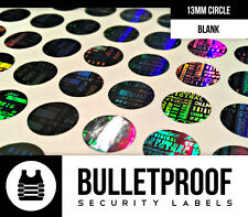 200ct 13MM ROUND WARRANTY VOID SECURITY HOLOGRAM LABELS STICKERS -FREE SHIPPING
