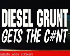 Funny 4x4 Car Sticker DIESEL GRUNT For Offroad 4wd Turbo Diesel Ute Wagon Winch