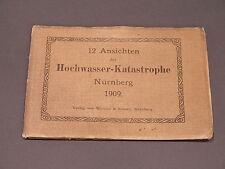 12 Ansichten der Hochwasser-Katastrophe Nürnberg 1909