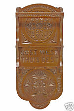 Antique Frisian Chip Carved 2 Tiered Tea Spoon Rack, Dutch.