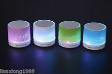 Mini Portable Bluetooth Speaker LED lights Speaker support TF card Wireless