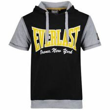 Everlast Men's Short Sleeve Layered T-Shirt Black/Grey Small NEW