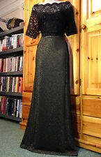 Glamorous&Festive MONSOON *Ava* form-flattering sparkly lurex/lace XMAS dress 12