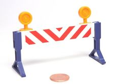 Playmobil Miniature Construction Road Hazard Sign Barricade w/ Lights