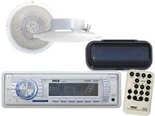 """Marine Boat MP3 USB AUX Radio Waterproof Stereo with 4"""" Speakers + Stereo Cover"""
