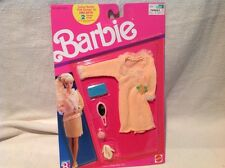 BARBIE KNIT COLLECTION ~ VINTAGE 1989 ~ PEACH DRESS w/LACE ~ NEW