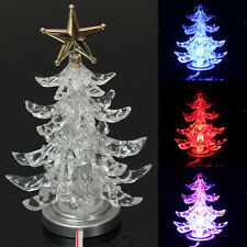 Color Charging Top Star USB LED Christmas Xmas Tree Desk Topper Light Decoration