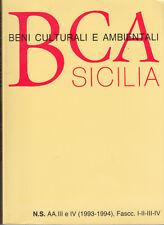 ARTE BENI CULTURALI E AMBIENTALI SICILIA1993-1994 FASC. I-II-III-IV