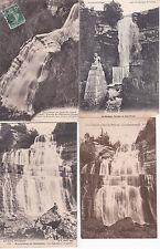 lot de 4 cartes postales anciennes LE HERISSON cascade 3