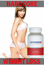 Lipofuze Hardcore Weight Loss Fat Burner Pills for Diets - Dietary Supplement