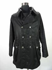 Mens Stylish G-STAR waxed coat, jacket, size M, S, black jacket trenchcoat DR394