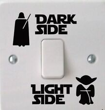 Star Wars Dark Light Side Light Switch Vinyl Decal Boys Bedroom Art Sticker